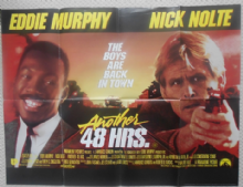 Another 48 Hours, Original UK Quad Poster, Eddie Murphy, Nick Nolte, '90